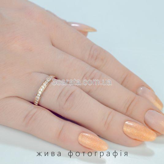 Золотое обручальное кольцо с дорожкой бриллиантов «Верность»