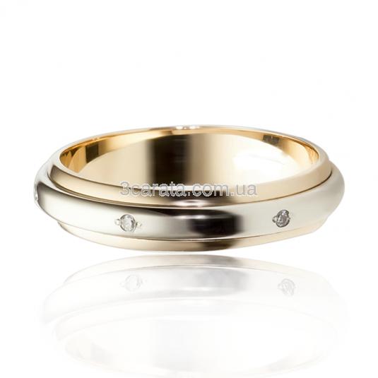 Обручальное кольцо «Навеки вместе» с цирконием