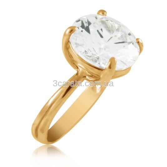 Золотое кольцо с крупным горным хрусталем «Эдисса»