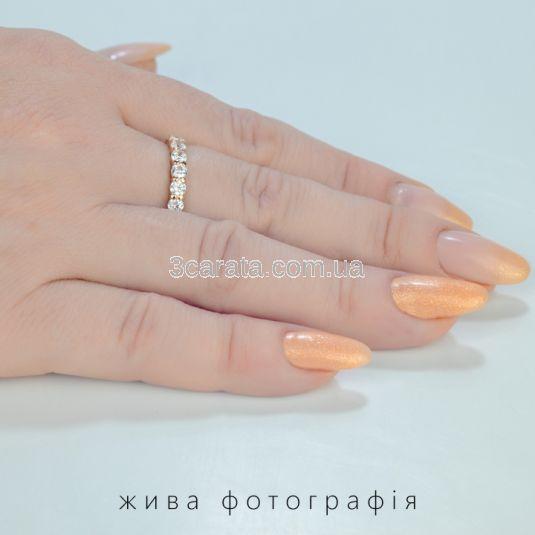 Золотое кольцо с дорожкой бриллиантов общим весом 1 Ct «Восторг»