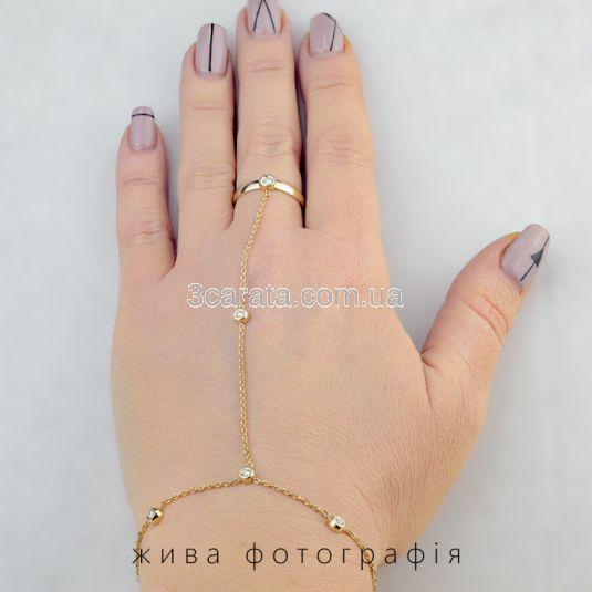 Золотой женский браслет слейв «Jasmina» с бриллиантом