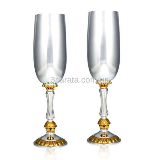 Бокал серебряный для вина «Элегантный»