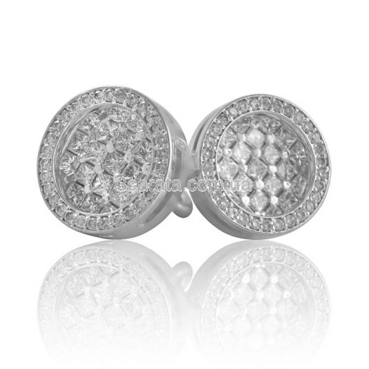 Золотые серьги с бриллиантами «Maorini»
