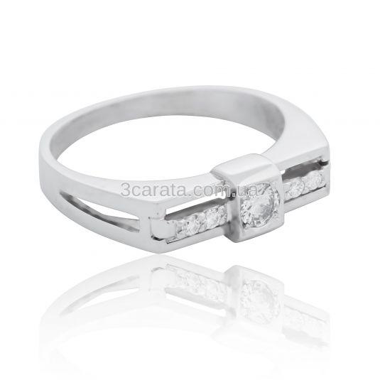 Золотое кольцо для мужчины с бриллиантом 0.18 Ct «He is...»