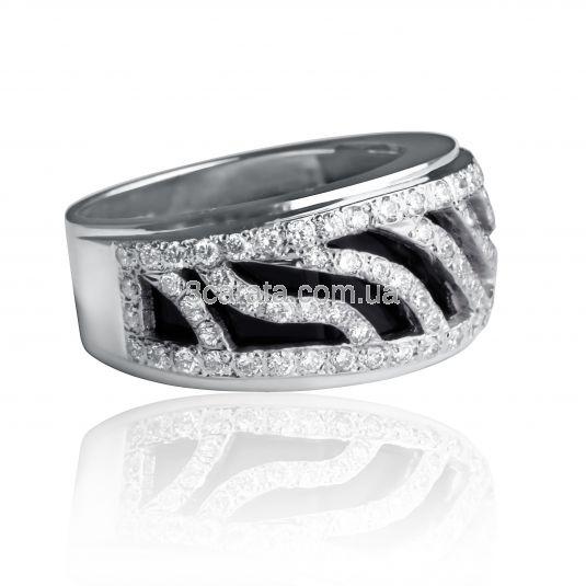 Золотое кольцо в россыпи бриллиантов «Starlight»