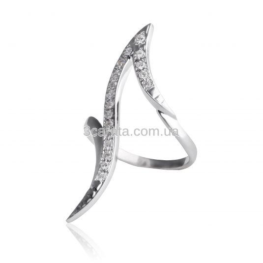 Золотое фаланговое кольцо  с бриллиантами «Лавровая ветвь»