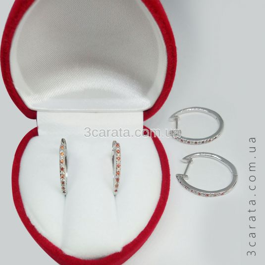 Серьги с сапфирами с бриллиантами «Caroline»