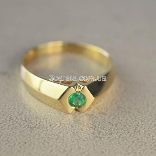 Мужской стильный перстень «Магический изумруд»