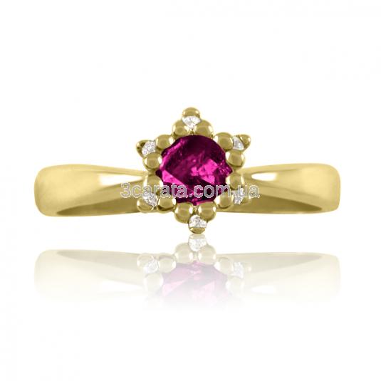 Золотое кольцо с родолитом «Царевна Будур»
