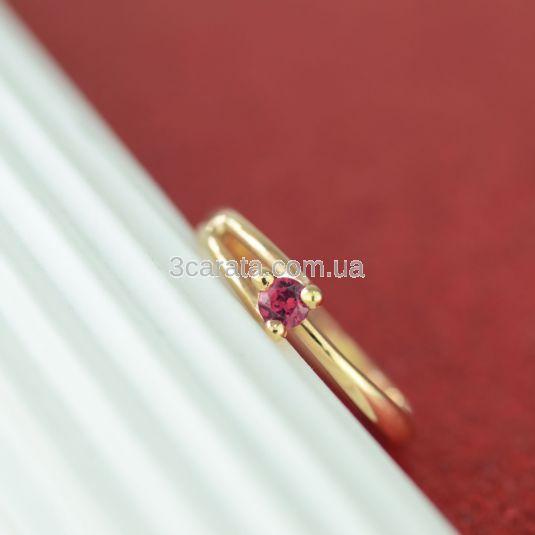 Кольцо помолвочное из золота с  рубином «Любовь моя»