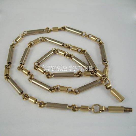 Золотая цепочка трубчатого плетения