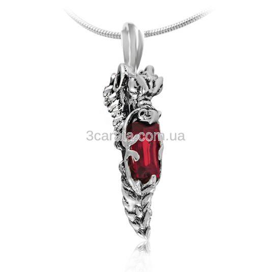 Золотой кулон с рубином «Сердце дракона»