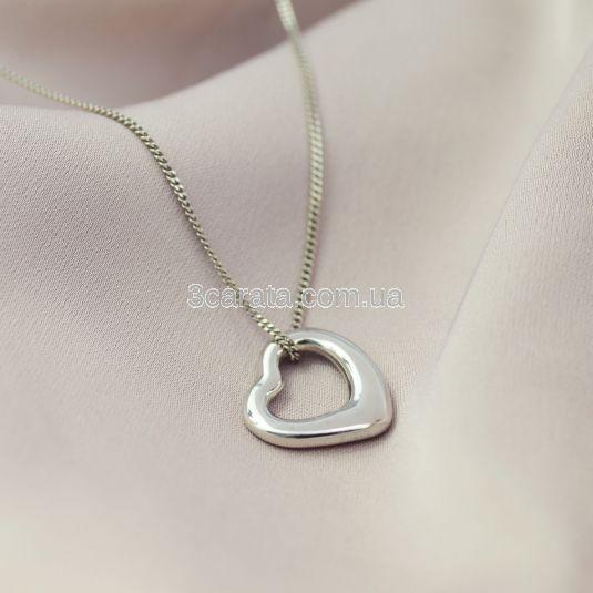 Золотой кулон сердечко «In love»