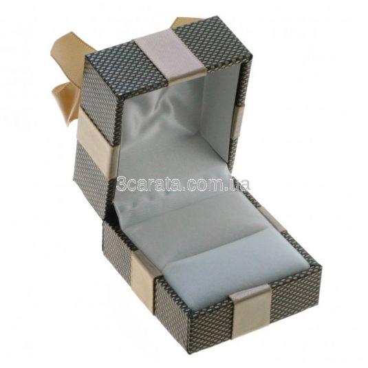 Коробочка подарочная с бантом для кольца или пусет