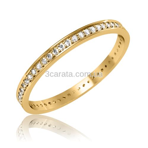 Обручальное кольцо с цирконием «Our wedding»