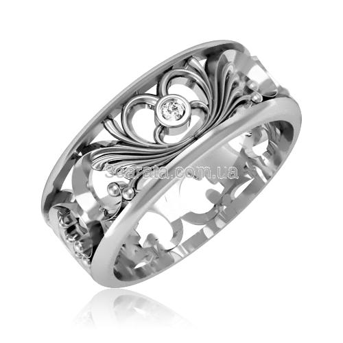 Обручальное кольцо с цирконием «Tender love»
