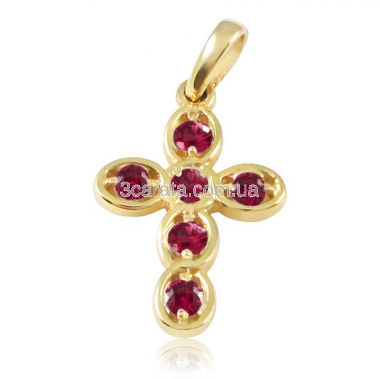 Золотой кулон с рубином «Оберег»