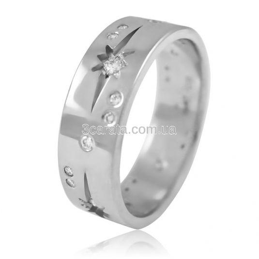Золотое обручальное кольцо «Неземная любовь»