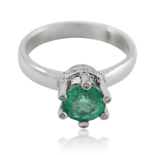 Кольцо с изумрудом и бриллиантами «Царская корона»