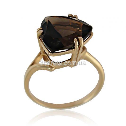 Золотое кольцо с раухкварцем «Патриция»