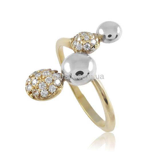 Золотое кольцо c фианитами «Пояс Венеры»