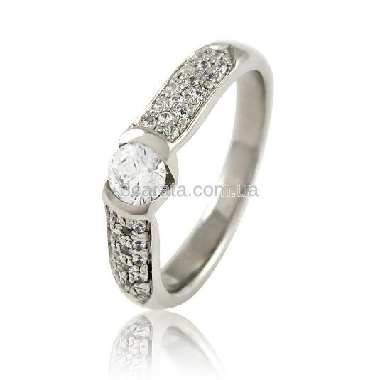 Золотое кольцо со Swarovski  «Луна и звёзды»