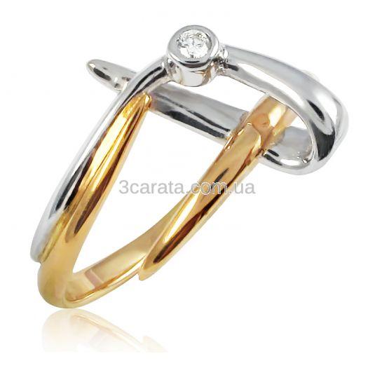 Золотое кольцо с бриллиантом «Люцилла»