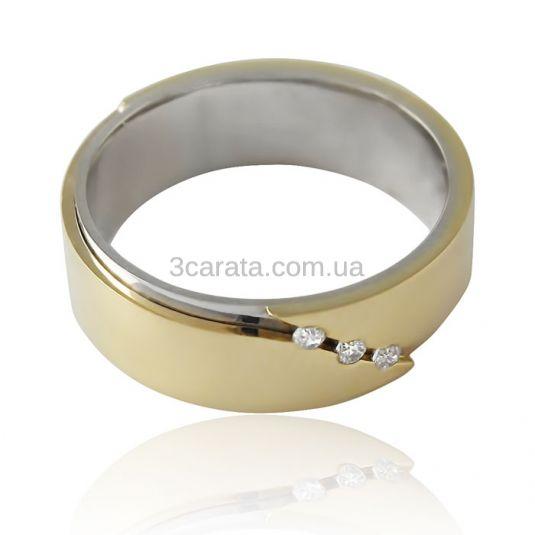 Золотое обручальное кольцо с цирконием Сваровски «Perfect Love»