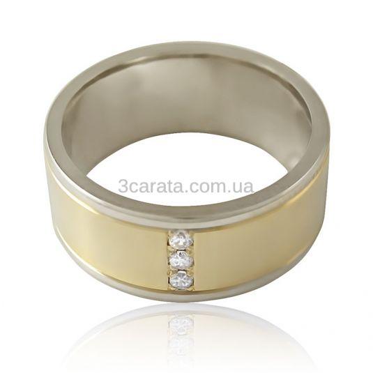 Золотое обручальное кольцо с цирконием «ForeverEver II»