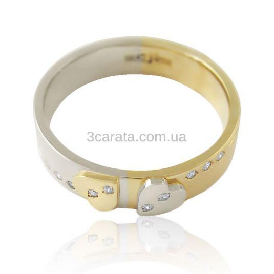 Золотое обручальное кольцо  «You&Me II»