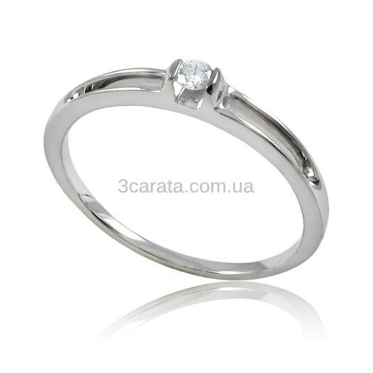 f9b6168cf912 Золотое кольцо с бриллиантом 0,06 карат «Камелия»