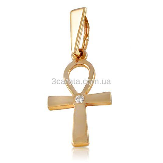Золотой крест с бриллиантом «Анкх»