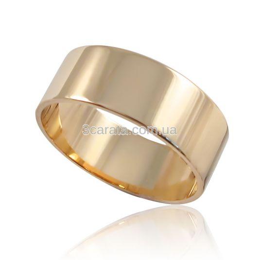 ed7e635706f4 Золотое обручальное кольцо «Американка широкая»