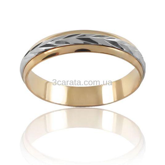 Золотое обручальное кольцо «Судьба»