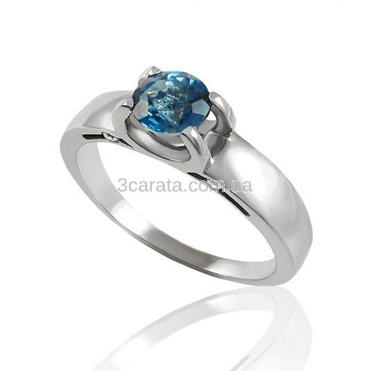 Женское кольцо с топазом «Небесная любовь»