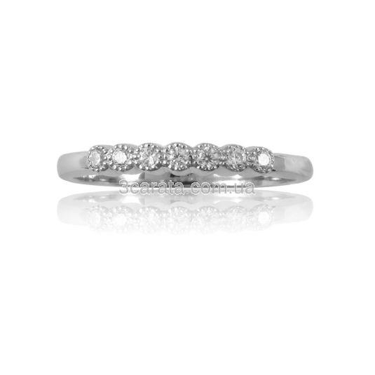 Помолвочное кольцо дорожка с бриллиантами «Семь счастливых дней»