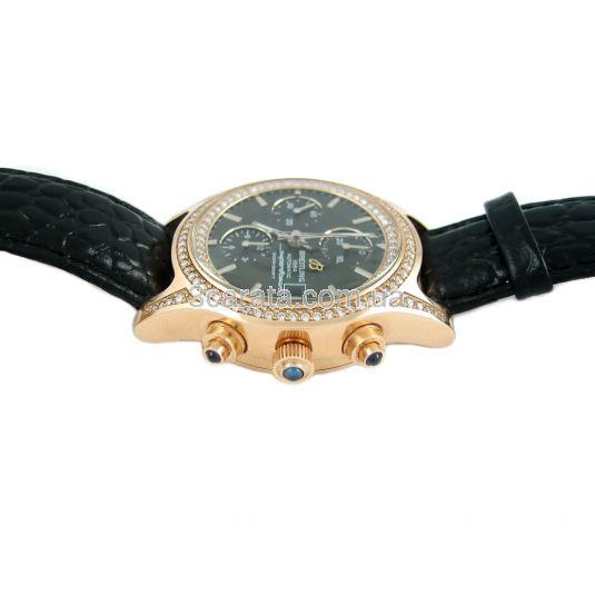Золотые часы-хронограф с бриллиантами «Askold»