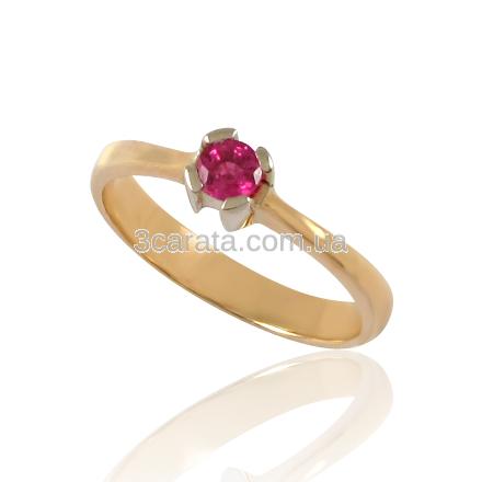 Кольцо с рубином «Вишенка»
