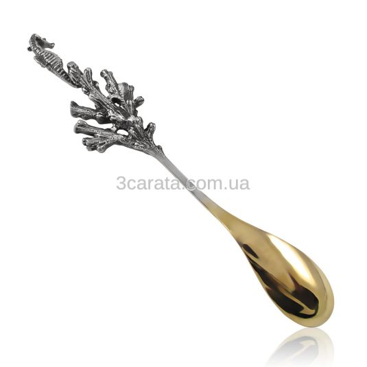 Серебряная ложка с позолотой