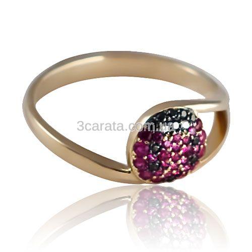 Золотое кольцо «Божья коровка»