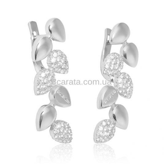 Золотые серьги с бриллиантами «Любовь на века»