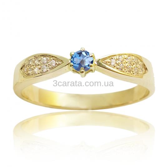 Золотое кольцо c топазом «Избранница»