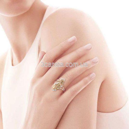 Эксклюзивное кольцо с прямоугольными цитринами «Полярное сияние»