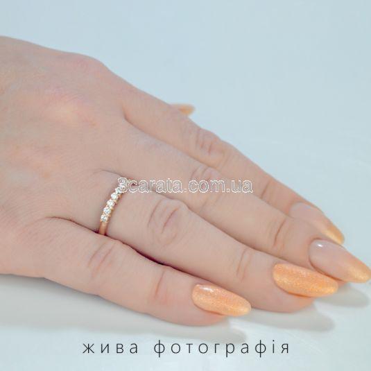 Золотое  кольцо дорожка с камнями Swarovski «Мечта»