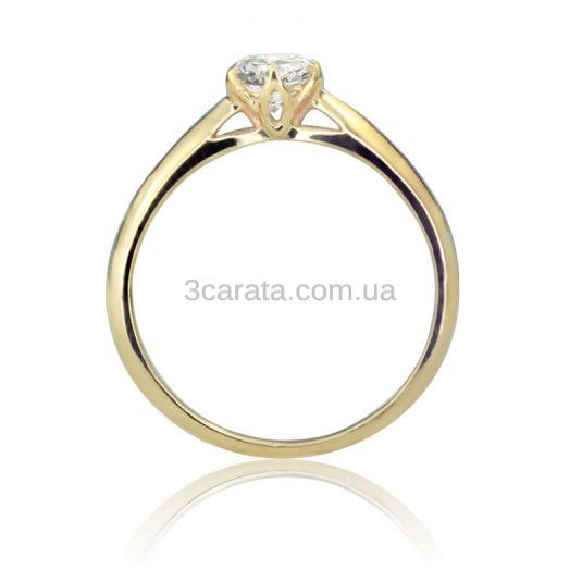 Золотое кольцо с белым сапфиром «Парижанка»