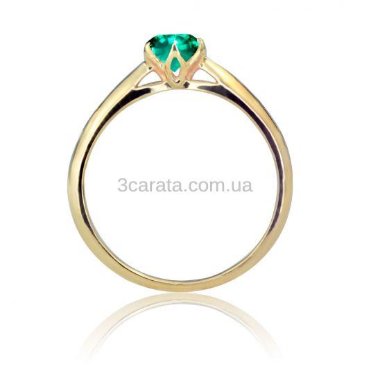 Золотое кольцо с изумрудом «Парижанка»