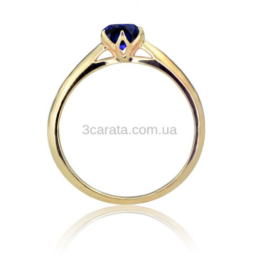 Золотое кольцо с сапфиром «Парижанка»