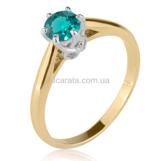 Помолвочное кольцо с лабораторным изумрудом «Andromeda»