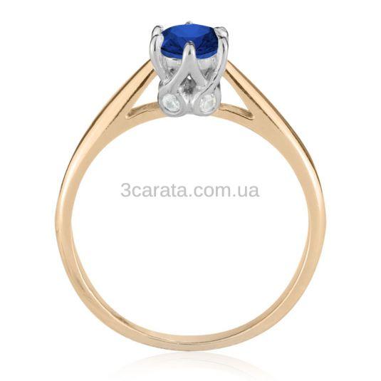 Помолвочное кольцо с лабораторным сапфиром «Andromeda»