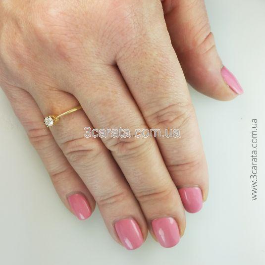 Женское кольцо с одним бриллиантом 0,12 Ct «Rendezvous»
